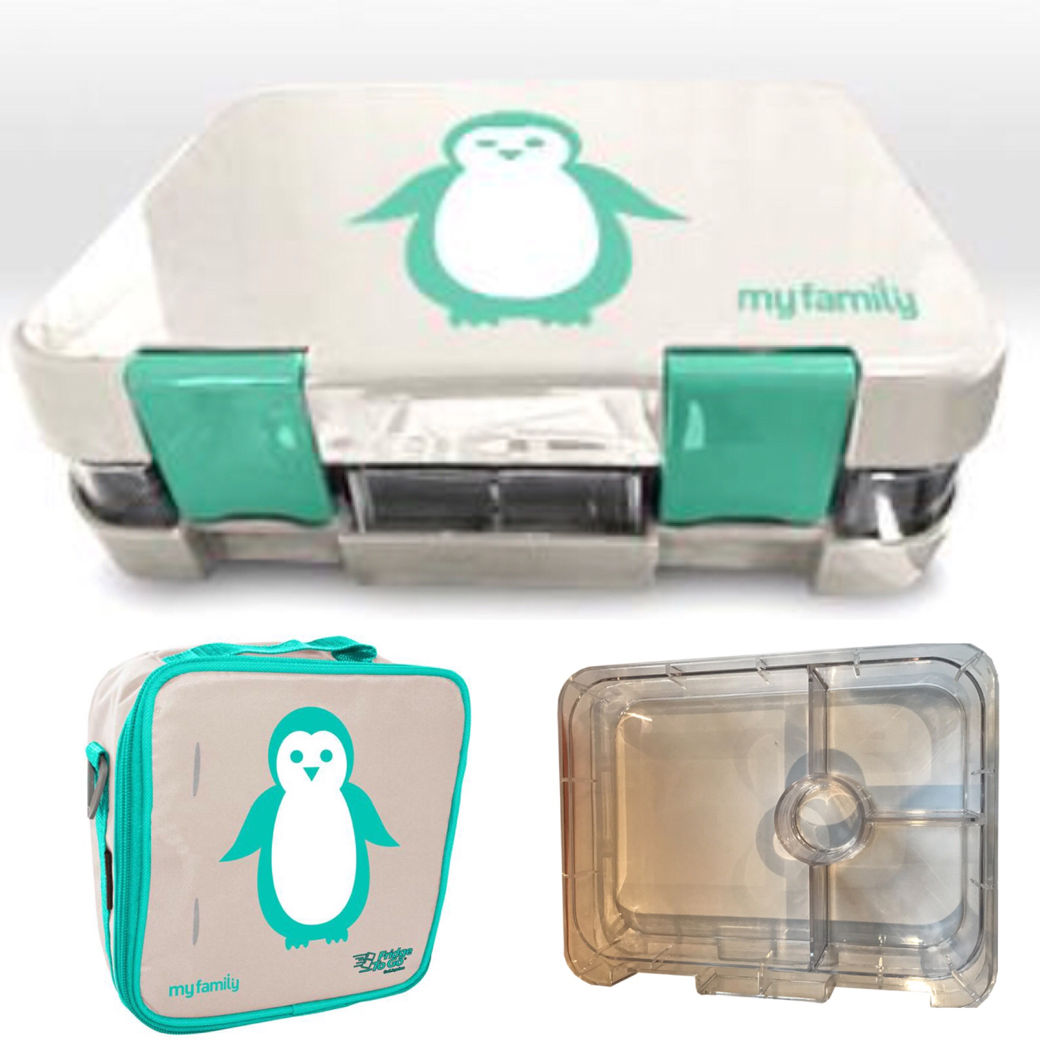 super bento lunchbox and my family fridge to go lunch bag boutique baby. Black Bedroom Furniture Sets. Home Design Ideas